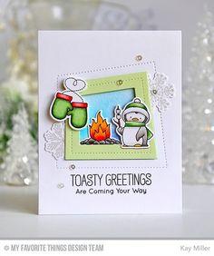 Handmade card from Kay Miller featuring Birdie Brown Toasty Greetings