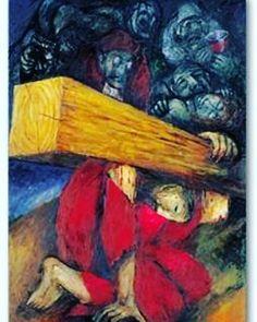 Me estremece el contemplar a nuestro Señor en esta escena de Sieger Koder #ViaCrucis #ViernesSanto
