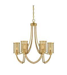 670 Savoy House Fairview 6 Light Chandelier in Rubbed Brass 1-1280-6-325 #lightingnewyork #lny #lighting