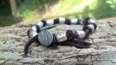 Leaf Jewelry, Unique Jewelry, Bracelets For Men, Leather Men, My Etsy Shop, Trending Outfits, Handmade Gifts, Silver, Shopping