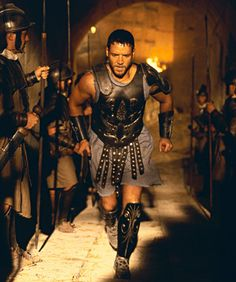 Russell Crowe. Aries Sun.  Spartacus has that Arian warrior/hero spirit, but there's a mix of Pisces going on with that slave thing.