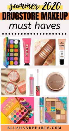 Summer 2020 Drugstore Makeup Must Haves! Check out the latest drugstore makeup releases that are hot for summer from brands like elf cosmetics, makeup revolution, colourpop, bh cosmetics, wet n' wild, revlon, maybelline and essence cosmetics! Get your sweat-proof makeup look this summer for less at the drugstore!   best drugstore makeup for summer looks   summer makeup products   #makeup #summermakeup #drugstoremakeup #makeupproducts Best Drugstore Makeup, Drugstore Skincare, Makeup Dupes, Best Makeup Products, Beauty Products, Beauty Tips, Essence Cosmetics, Bh Cosmetics, Fall Makeup Looks