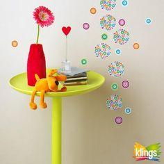Vinilo Decorativo Infantil - RAINBOW colores, flores. WALL STICKER DECOR