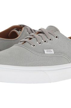 Vans Authentic Decon ((Premium Leather) Wild Dove/True White) Skate Shoes - Vans, Authentic Decon, VN0A348LM44, Footwear Athletic Skate, Skate, Athletic, Footwear, Shoes, Gift - Outfit Ideas And Street Style 2017