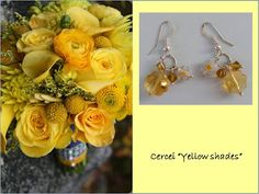 """Yellow shades"" earrings"