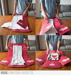 Folding t-shirts like Sheldon Cooper!