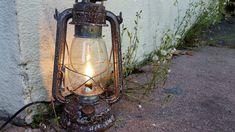 Electric Hurricane Lanterns Table Lamps by MikeMBurkeDesigns Silver Lanterns, Antique Lanterns, Hurricane Lanterns, Hanging Lanterns, Copper Lantern, Rustic Table Lamps, Light Bulb Wattage, Kerosene Lamp, Handmade Lamps