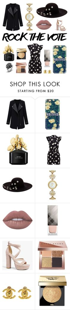 """""""Untitled #26"""" by adolescent-999-anarchy ❤ liked on Polyvore featuring Casetify, Marc Jacobs, Kate Spade, Betsey Johnson, Lime Crime, Burberry, Boohoo, Bobbi Brown Cosmetics, Chanel and West Coast Jewelry"""