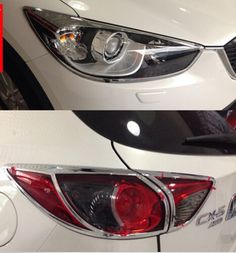 Chrome Car FRONT HEADLIGHT + REAR TAILLIGHT Trims For Mazda CX-5 CX5 2012 2013 2014