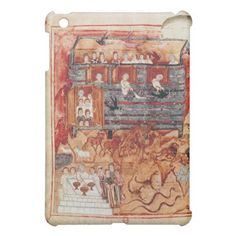 N.A.L 2334 fol.10v Noah's Ark, from 'De Tours Pent iPad Mini Covers