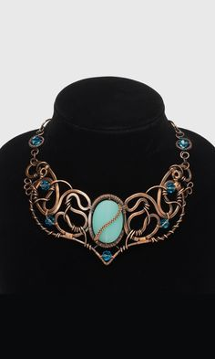 Jewelry Design - Bib-Style Necklace with Wirework, Glass Beads and Swarovski Crystal - Fire Mountain Gems and Beads