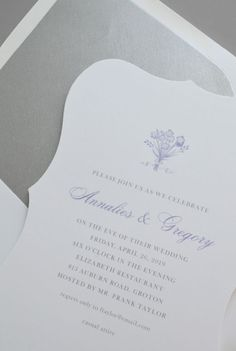 Kleinfeld Paper || Embossed Pearls Rehearsal Dinner Invitation #Pantone #coloroftheyear