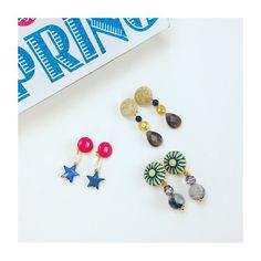 New season New earrings!  プチプライス「BAZAAR」より新作入荷しました♡  #lovestone #sedona #bazaar #newarrivals #spring #earrings #vintage #gemstone #instajewelry #instadaily #ラブストー #セドナ #新作 #バザール #イヤリング #天然石アクセサリー #ビンテージ #春 #love