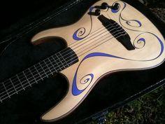 solid body nylon electric guitar - Buscar con Google
