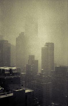 New York Snowstorm by Kevin Bauman, via Behance