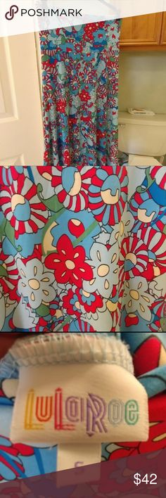 Gently used LLR Maxi size S Size S.  I Gently used LLR Maxi size S I call it the trippin 60's flower child print. Great/excellent condition. One of my unicorn prints but the a size too big, doing major destash of my Lula. MAJOR UNICORN FOR BEING MADE IN THE USA & THE PRINT!  Price is FIRM.  No holds. No PayPal.  No trades.  No low balls.  No discounts given other than the 5% bundle deal discount on 2+ LuLaRoe Skirts