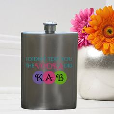 Personalized Texting Vodka Flask - Bridesmaid Gifts - Maid of Honor Gift - Bridal party gifts