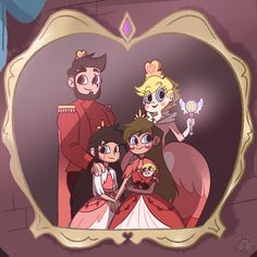 Svtfoe- Royal Family Portrait by SakiCakes on DeviantArt Disney Princess Babies, All Disney Princesses, Cute Girl Drawing, Cute Drawings, Star E Marco, Royal Family Portrait, Power Of Evil, Starco Comic, Anime Pixel Art