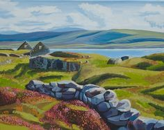 Old Ruin Irish Landscape, Irish Art, Donegal, Art For Sale, Golf Courses, Ireland, Ruin, Drawings, Artist