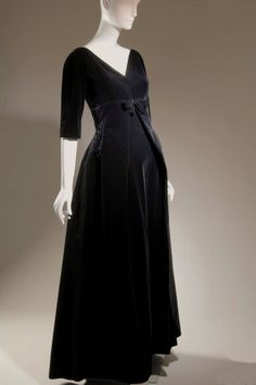 Balenciaga Cotton Velvet Evening Dress, 1955