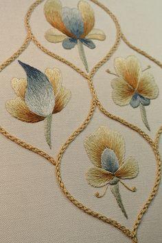 Finished Detail Folk Art Silk Shading Sampler