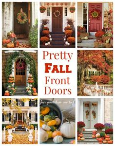 Gorgeous front door fall decorating ideas... can't wait for fall decor!
