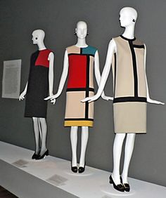 """vintage 60's yves saint laurent mondrian dress....this is """"in"""" right now....color blocking.....borrowed from the 60's...."""