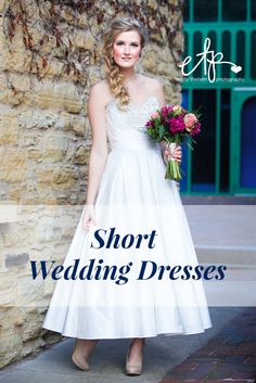 Short wedding dresses for the non-traditional bride | Theisen Photography