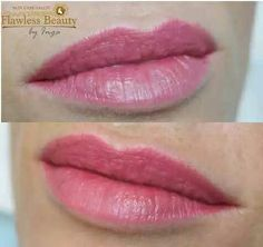 Permanent makeup of lips. Welcome! 347-252-6666