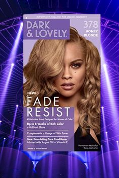 Softsheen-Carson Dark and Lovely Fade Resist Rich Conditioning Hair Color, Permanent Hair Color, #goldhaircolor #haircolor #permanenthaircolor #resistrichconditioning #conditioninghaircolor Gold Blonde Hair, Gold Hair Colors, Permanent Hair Color, Argan Oil, Conditioning, Haircolor, Dyed Hair, Dark, Hair Color