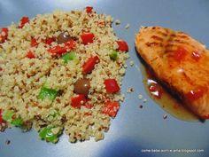 Come, bebe, sorri e ama: Salada de Quinoa com Salmão Agridoce
