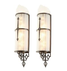 Pair of Twinkling Art Deco Theater Sconces c1935    R4337