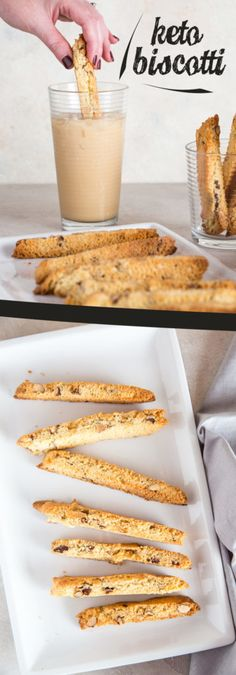 Diet Recipes - Our Keto Biscotti recipe is packed with flavor and identical to the real deal, perfect for this holiday season! Quick Keto Dessert, Desserts Keto, Keto Snacks, Ketogenic Recipes, Low Carb Recipes, Diet Recipes, Ketogenic Diet, Slimfast Recipes, Keto Desert Recipes