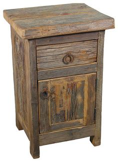 Barn Wood Nightstand rustic nightstands and bedside tables