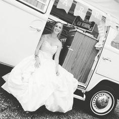 VW camper bride in Devon