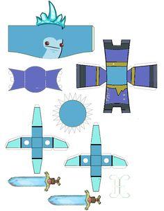Castle Crashers Ice King paper craft