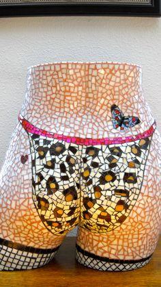 Rosie Mosaic Torso of a Woman by Barbara Kreider