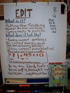 Editing & peer conferencing (Child Writer Sample - Baxter)