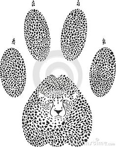 Illustration about Vector illustration of a cheetah camouflage in the shape of a cheetah trace. Illustration of pattern, tracks, repetition - 127145177 Animal Tracks, Footprint, Cheetah, Camouflage, Africa, Shape, Illustration, Animals, Design