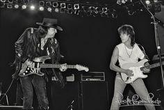 Stevie and Jeff Beck - 1988 Stevie Ray Vaughan Guitar, Steve Ray Vaughan, Jimmie Vaughan, Jeff Beck, Jimmy Page, Eric Clapton, The Yardbirds, Joe Bonamassa, David Gilmour