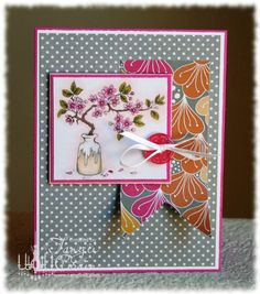 The Inking Spot of Crain Creations by Tangii Crain. Cherry Blossoms by Just Inklined stamps. #cards, #copics, #stamping, #flowers, #sweetsundaysketch