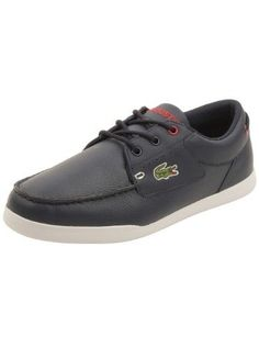 Lacoste Mens Codecasa 316 Boat Shoes in Navy/Red 7.5 M US, Men's,
