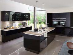 Home Design Floor Plans, Kitchen Design Open, Beige Sofa, Castle House, Sweet Home, House Design, Inspiration, Interior, Glass Cabinets