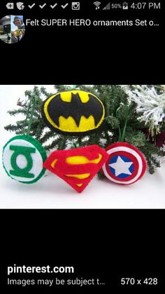 Superhero Felt Ornaments