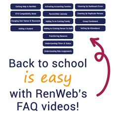 Need a few refreshers on common back to school procedures in RenWeb? Check out our series of FAQ videos! More: http://www.renweb.com/Blog/EntryId/385/RenWeb-FAQs-Back-to-School.aspx