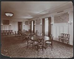 New York City: Interior of the College Hall dining room at the Hotel Astor, Broadway and Street. New York Hotels, Vintage New York, At The Hotel, New York City, Broadway, Dining Room, College, Street, Places