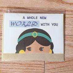 Jasmine Card by CherryOnTopDsgns on Etsy