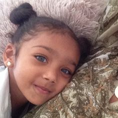 Beautiful baby girl with Amazing Gray eyes