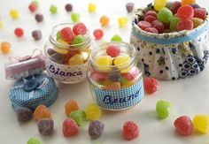 Potinhos de doces