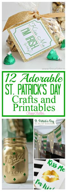 These adorable St. Patrick's Day Crafts and Printables are just the cutest thing ever!! St. Patrick's Day is coming up so soon. It is always so fun to decorate around the house. Here are some cute, fun ideas that I love and I am sure you will too. There are many St. Patrick's Day Crafts and Printables. Let me know which ideas are your personal favorites. Shamrock Mason Jars – This mason jar is just adorable. I love how simple this project is but it makes such a fun decoration. Printable…